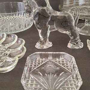 Lot # 132 Heisey by Mosser for Longaberger Glass Clydesdale & Assorted Glass