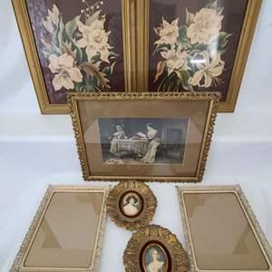 Lot # 141 Antique & Vintage Frames & Art
