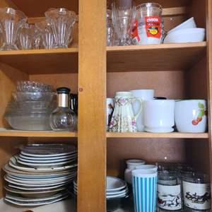 Lot # 161 Asst. Dishes & Glasses