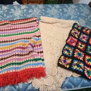 Lot # 164 Vintage Handmade Blankets/Throws