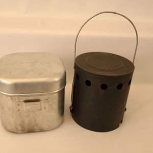 Lot # 185 Vintage Coleman Sportster Stove & Heat Drum