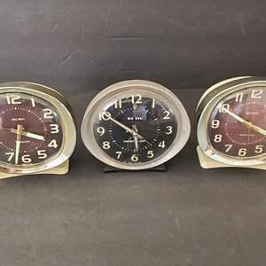 Lot # 200 3 VTG Westclox Big Ben Clocks