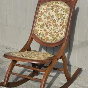 Lot # 211 VTG Folding Rocking Chair