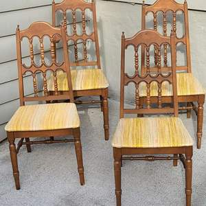 Lot # 212 4 MCM Dining Chairs
