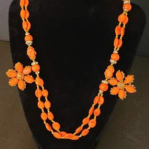 Lot # 216 VTG Miriam Haskell Necklace & Earrings #2