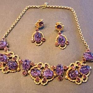Lot # 218 Amazing VTG Schiaparelli Necklace & Earrings