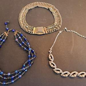 Lot # 230 Carnegie Blue Crystal Necklace & Others