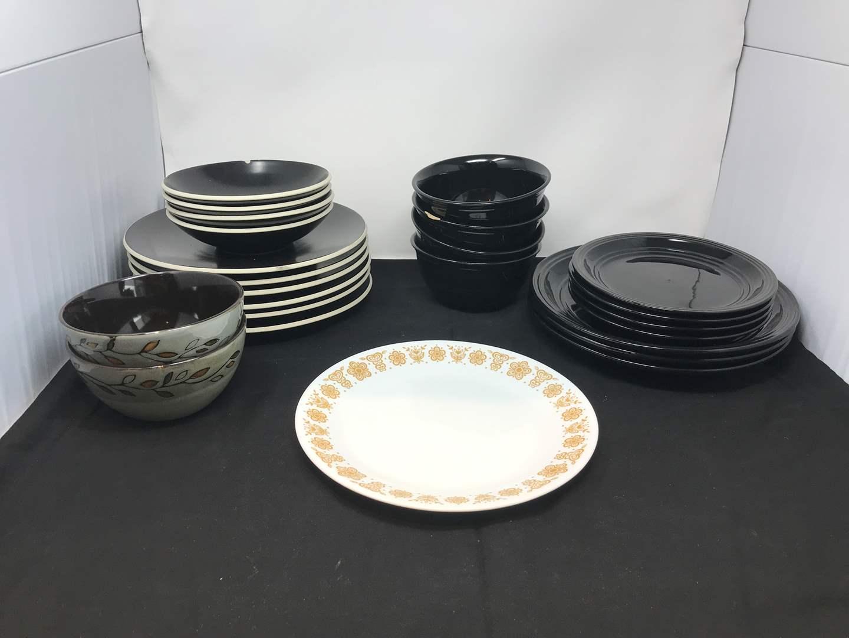 Lot # 57 - Lot of Misc. Black Plates & Bowls  (main image)