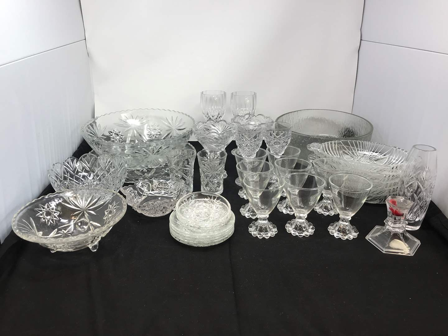Lot # 68 - Lot of Crystal Glass Bowls & Cups  (main image)