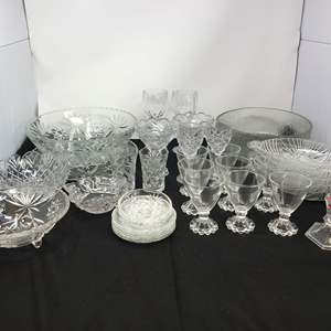 Lot # 68 - Lot of Crystal Glass Bowls & Cups