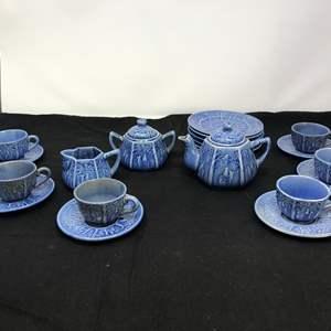 Lot # 80 - Cute Small China Set, Teacups & Saucers, Teapot