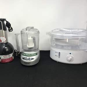 Lot # 86 - Cuisinart Mini Prep Plus, Veggie Steamer & Smart Stick