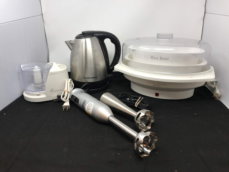 Lot # 91 - Rival Steamer, Cuisinart Smart Stick, Hamilton Hot Water Kettle (main image)