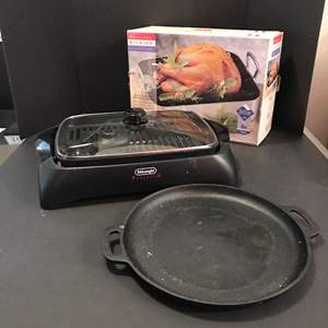 Lot # 93 - Pjilippe Richard Collection Roasting Pan, Electric Grill & More