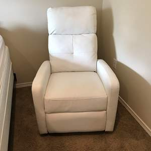 Lot # 212 - Noble House Home Furnishing White Recliner