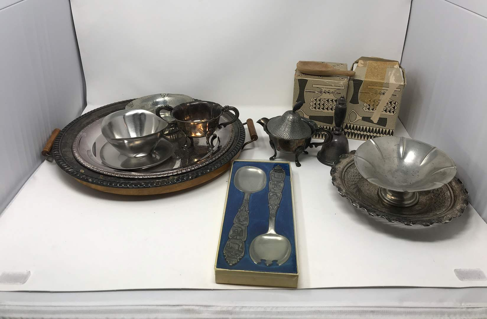 Lot # 220 - Lot of Stainless & Few Pewter Items (main image)