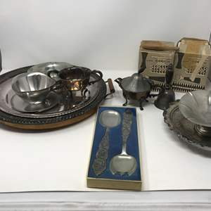 Lot # 220 - Lot of Stainless & Few Pewter Items
