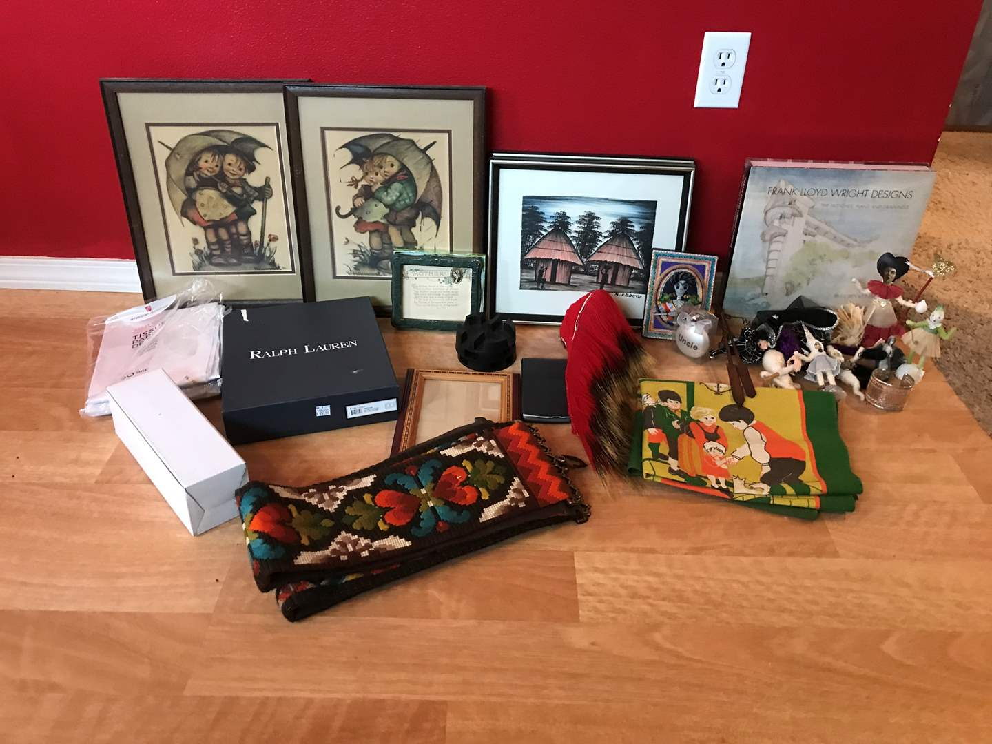 Lot # 230 - Lot of Misc. Items: Hummel Art, Picture Frame Figurines & More (main image)