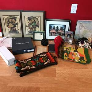 Lot # 230 - Lot of Misc. Items: Hummel Art, Picture Frame Figurines & More