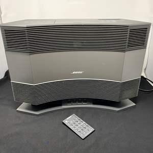 Lot # 2 - Bose Acoustic Wave Music System w/ Pedestal - (Works Great, Models CD-3000 & PD-2)