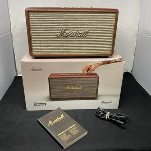 """Lot # 3 - Like New """"Marshall-Standmore"""" Compact Stereo w/ Bluetooth - (Works)"""
