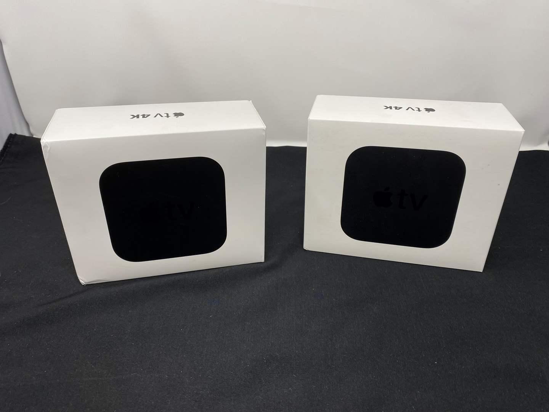 Lot # 11 - Two Apple TV 4K Units - (Model - A1842, 64gb & 32gb) (main image)