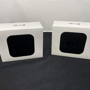 Lot # 11 - Two Apple TV 4K Units - (Model - A1842, 64gb & 32gb)