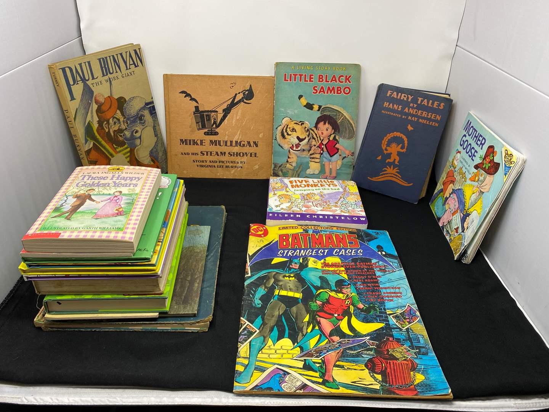 Lot # 17 - Large Limited Collectors Edition Batman's Strangest Cases Comic & Other Vintage Children's Books (main image)