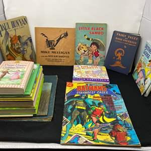 Lot # 17 - Large Limited Collectors Edition Batman's Strangest Cases Comic & Other Vintage Children's Books