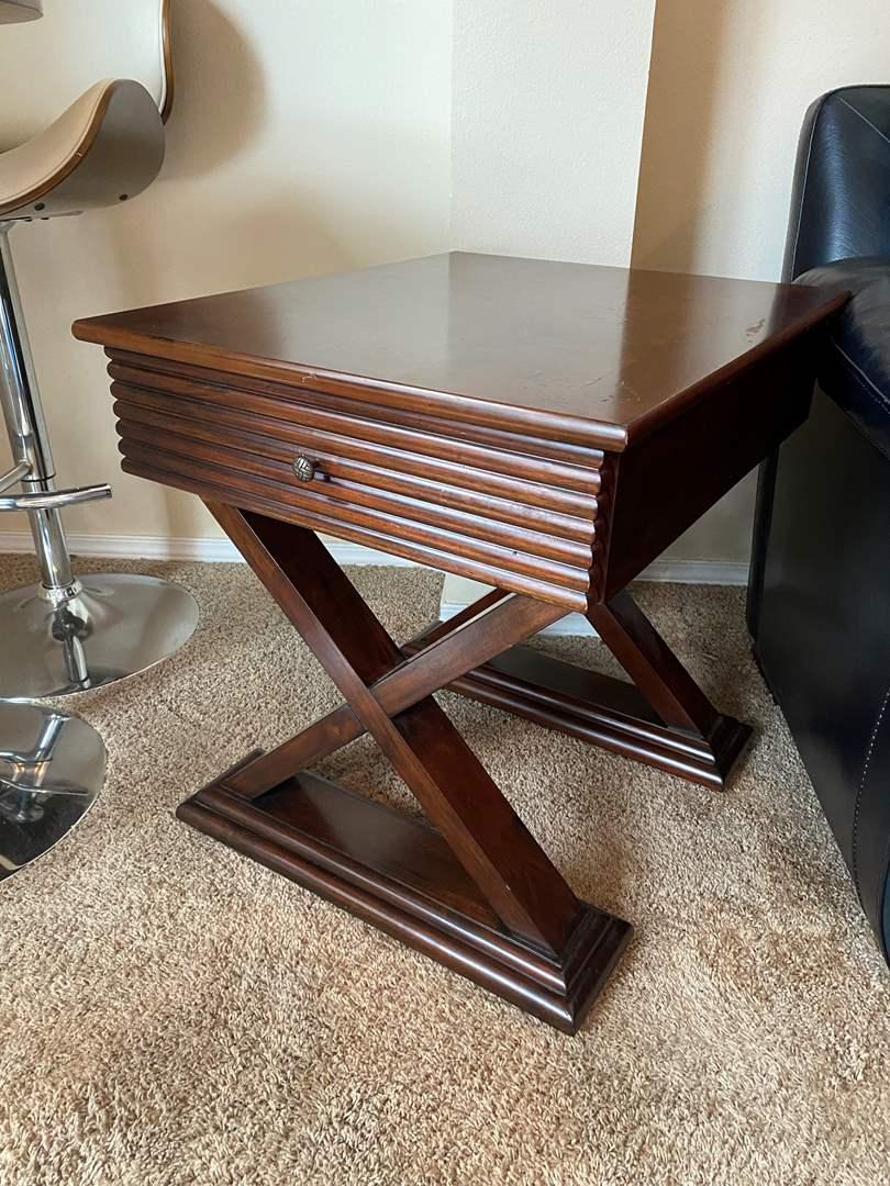 Lot # 23 - Wood Side Table (main image)