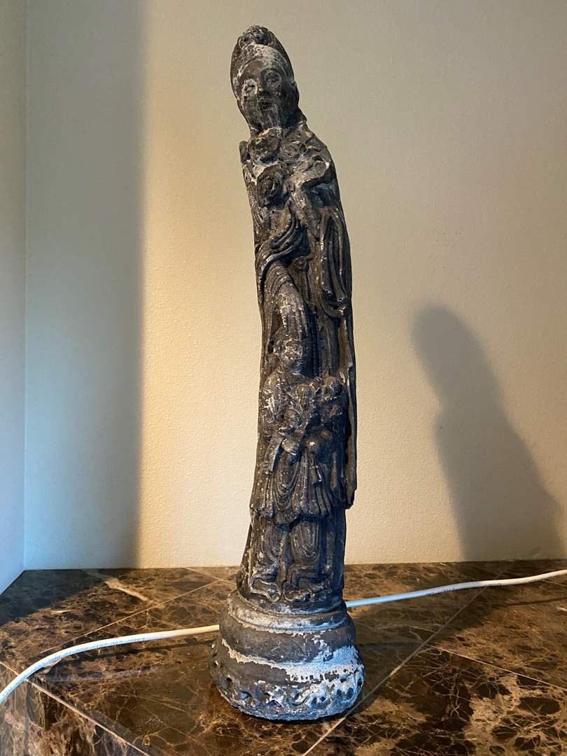 """Lot # 26 - Asian Cement Statue - (26"""" tall) (main image)"""