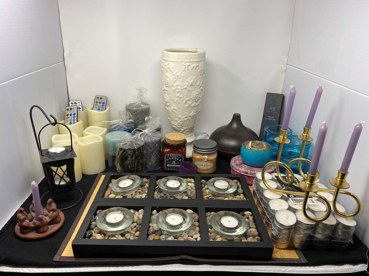 Lot # 27 - Great Collection of Candles & Candle Holders (main image)