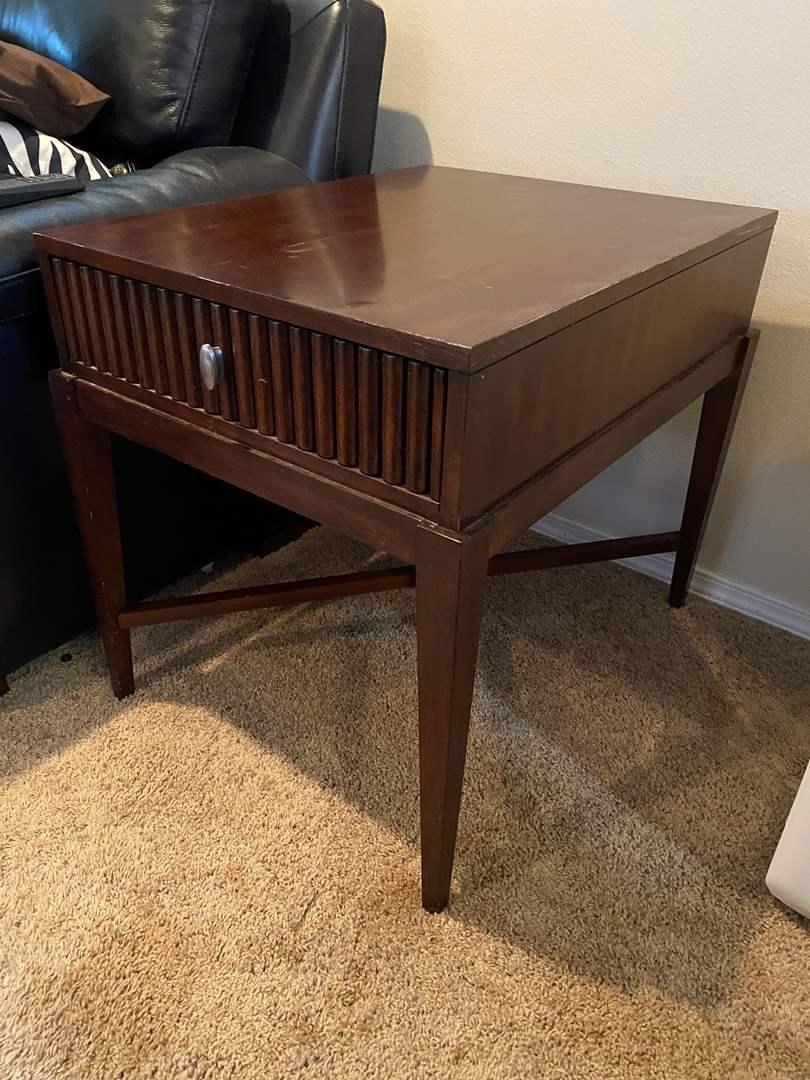 Lot # 28 - Wood Side Table  (main image)