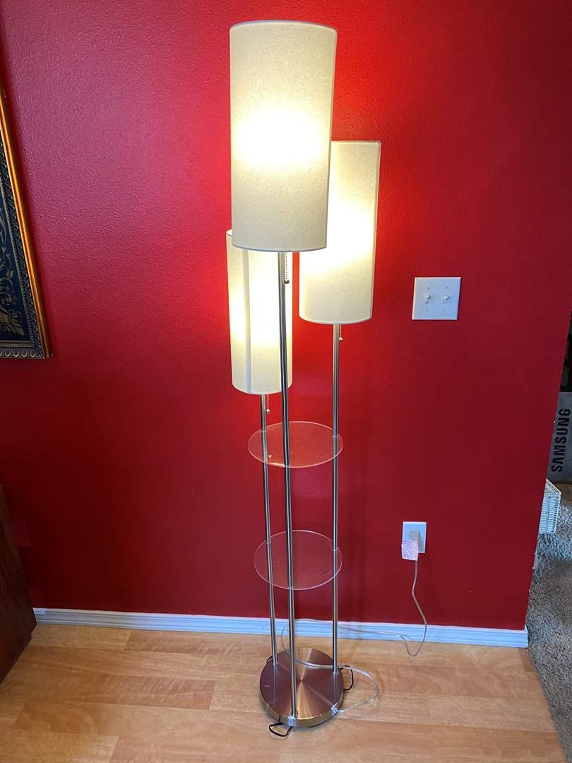 Lot # 38 - Three Tier Floor Lamp - (Works) (main image)
