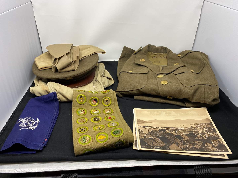 Lot # 43 - Vintage Military Uniforms & Scouts Patches (main image)