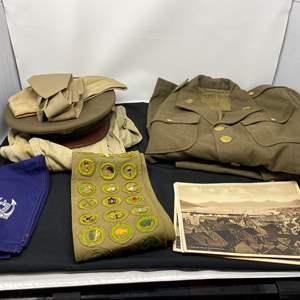 Lot # 43 - Vintage Military Uniforms & Scouts Patches