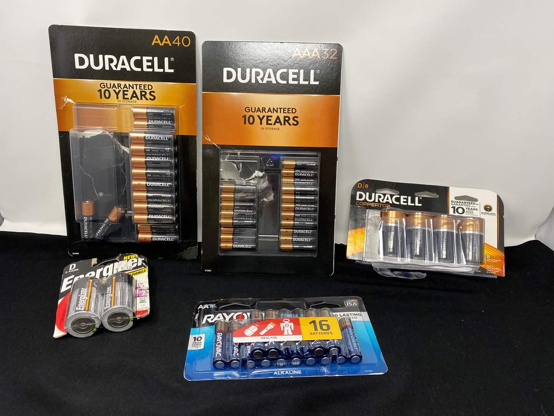 Lot # 45 - New Batteries: AA, AAA, D (main image)