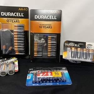 Lot # 45 - New Batteries: AA, AAA, D