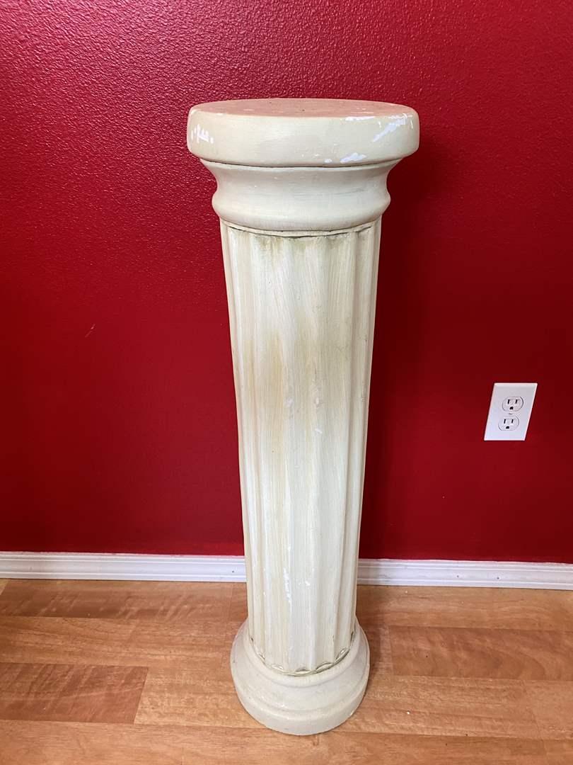 Lot # 47 -  Three Foot Tall Clay Pedestal (main image)