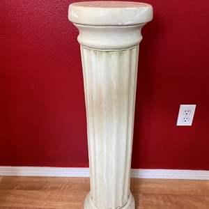Lot # 47 -  Three Foot Tall Clay Pedestal