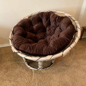 Lot # 111 - Brand New Papasan Chair from Pier-One-Imports