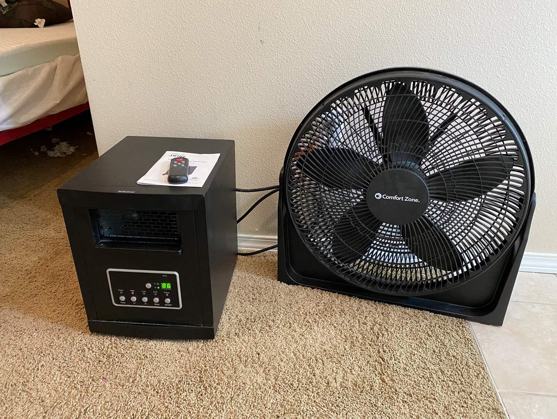 Lot # 112 - Life Smart Electric Heater on Wheels, Comfort Zone Fan (main image)