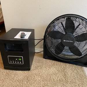 Lot # 112 - Life Smart Electric Heater on Wheels, Comfort Zone Fan