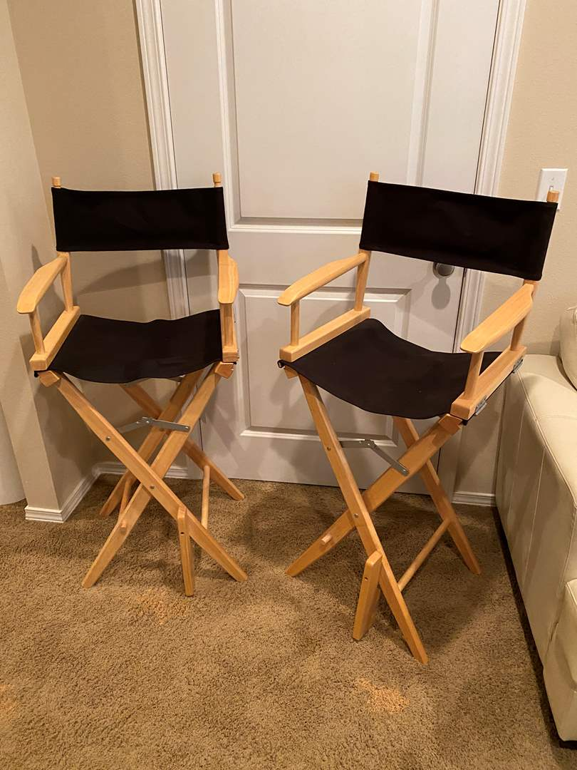 Lot # 127 - Two Directors Style Chairs (main image)