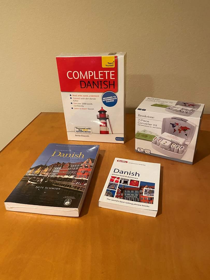 Lot # 141 - New Danish Speaking Language Books & Software, New Brookstone Power Converter Set (main image)