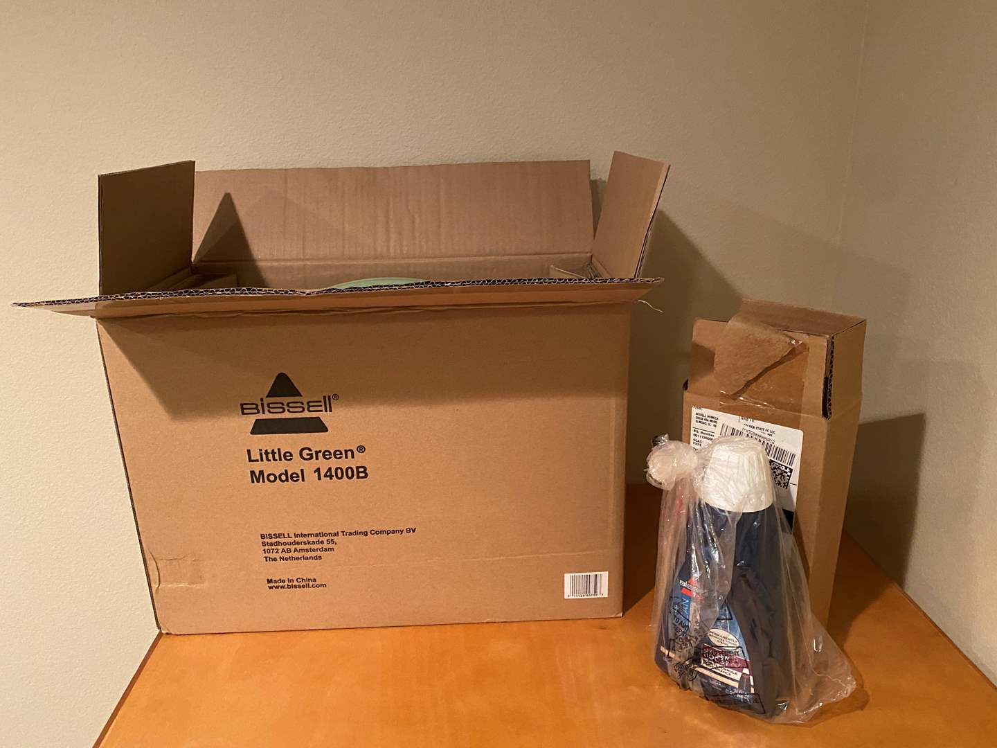 Lot # 154 - New in Box Bissell Little Green Carpet Cleaner w/ Bottle of Shampoo - (Model - 1400B) (main image)