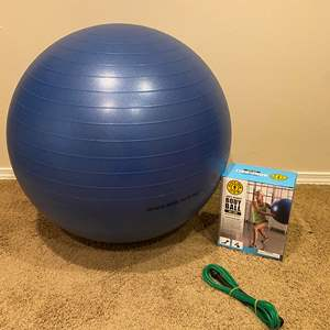 Lot # 155 - Golds Gym Body Ball w/ Jump Rope