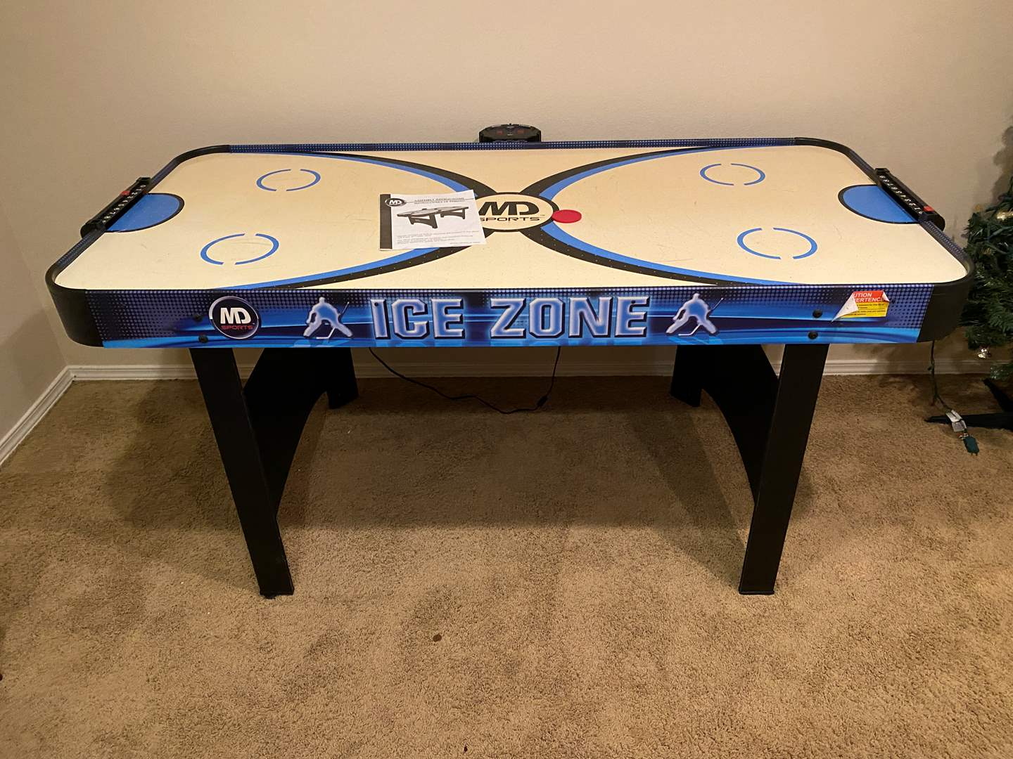 Lot # 158 - MD Sports Ice Zone Air Hockey Table - (Works) (main image)