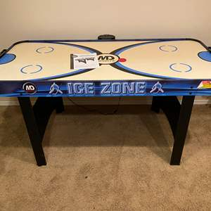 Lot # 158 - MD Sports Ice Zone Air Hockey Table - (Works)