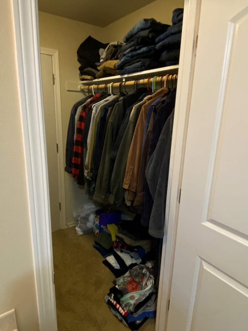 Lot # 162 - Closet Full of Men's Clothing (Some New w/ Tags - See Pictures): Carhart, Walls, Levi's, Wrangler & More (main image)